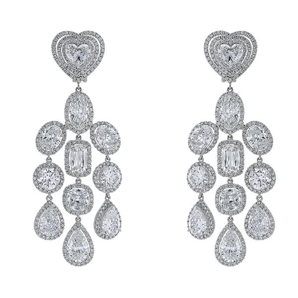Diamond Platinum Solitaire Earring